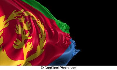 Flag of Eritrea - Beautiful 3d animation of Eritrea flag...
