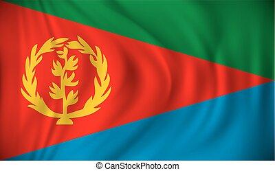Flag of Eritrea - vector illustration