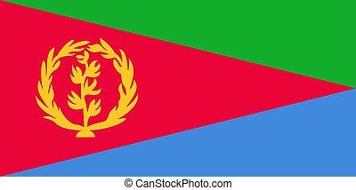 flag of Eritrea. Vector illustration
