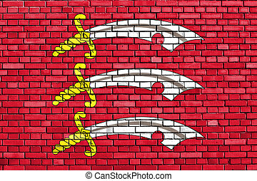 flag of Essex painted on brick wall