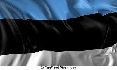Flag of Estonia - Beautiful 3d animation of Estonia flag in...