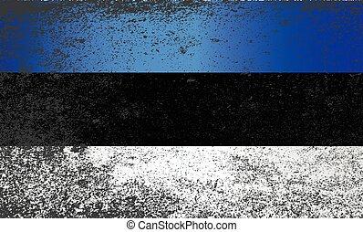 Flag of Estonia Grunge