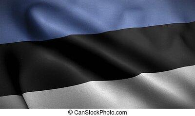 Flag of Estonia Loop 3D