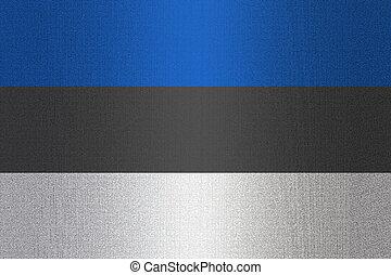 Flag of Estonia on stone