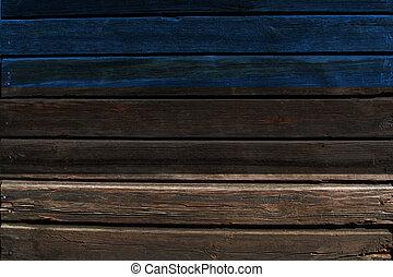 Flag of Estonia on wood