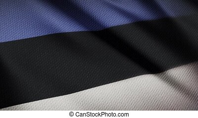 Flag of Estonia Realistic 3D