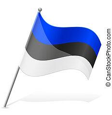 flag of Estonia vector illustration