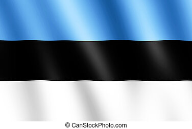 Flag of Estonia waving in the wind giving an undulating texture of folds in the fabric. The Image is in the official ratio of the flag - 7:11.