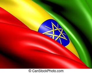 Flag of Ethiopia. Close Up.