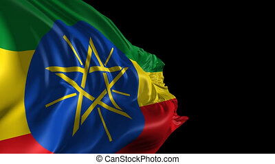 Flag of Ethiopia - Beautiful 3d animation of Ethiopia flag...