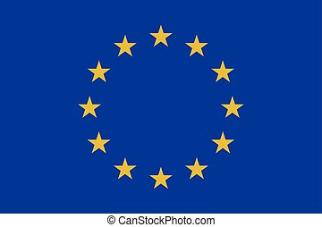 Flag of Europe. Vector illustration. World flag