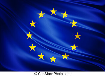 Flag of european union - Simbol flag of european union