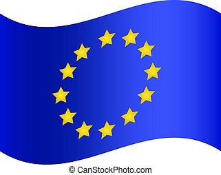 Flag of European Union. Vector Illustration Eps 10