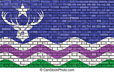 flag of Exmoor painted on brick wall