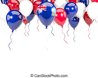 Flag of falkland islands on balloons