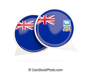 Flag of falkland islands, round chat icon