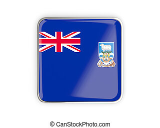 Flag of falkland islands, square icon