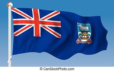 Flag of Falkland Islands - vector illustration