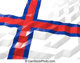 Flag of Faroe Islands 3D Wallpaper Illustration