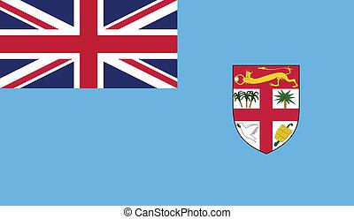 Fiji Republic flag vector illustration. created EPS 10