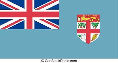 Flag of Fiji vector