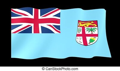 Flag of Fiji. Waving flag