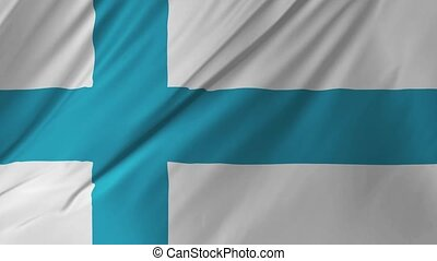 Flag of Finland beautiful 3d animation 2 in 1 - Flag of...