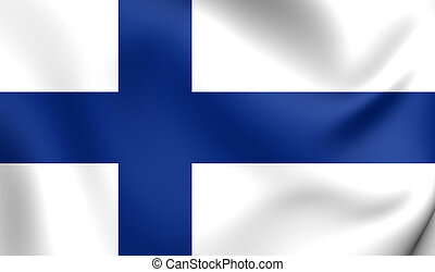 Flag of Finland. Close Up.