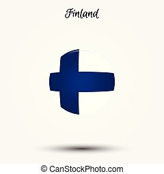 Flag of Finland icon. Vector illustration. World flag