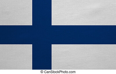 Flag of Finland real detailed fabric texture