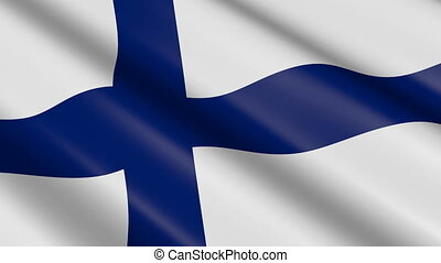 Flag of Finland (seamless loop) - great for topics like...