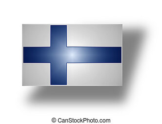 Flag of Finland (stylized I). - National flag of the...