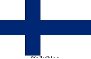 Flag of Finland vector illustration