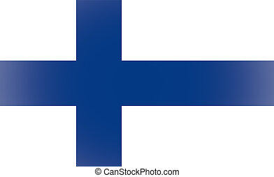 Vignetted Finnish flag of Finland