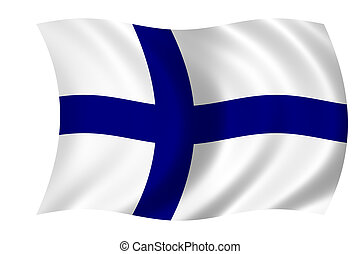 Flag of Finland - waving flag of finland