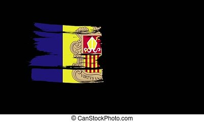 Flag of Flag of Andorra. Nationals flags of world country...