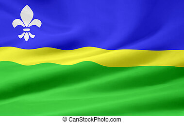 High resolution flag of the dutch province of Flevoland