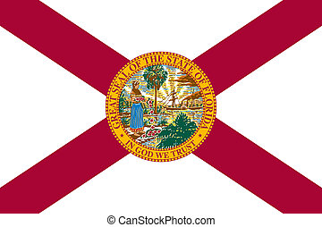 Flag of Florida correct size color illustration