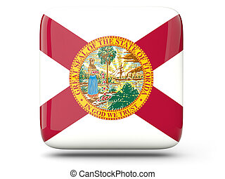 Flag of florida, US state square icon