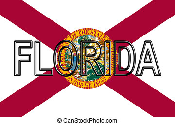 Flag of Florida Word