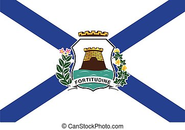 Flag of Fortaleza, Ceara, Brazil. Vector Format
