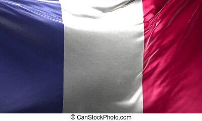 Flag of France 3D Loop