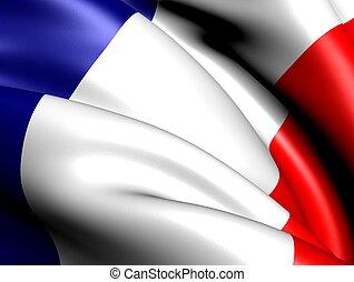 Flag of France. Close up.