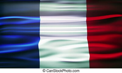 Flag of France. French official flag gently waving in the wind