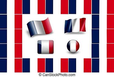flag of France. icon set