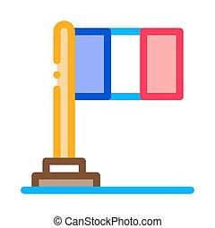 flag of france icon vector. flag of france sign. color symbol illustration