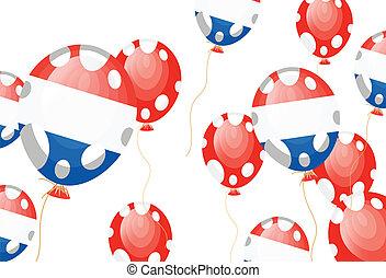 flag of France in balloon shape
