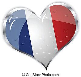 flag of France in heart shape