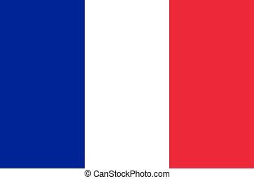 Flag of France in official rate and colors, vector