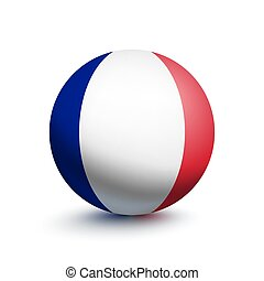 Flag of France in the form of a ball